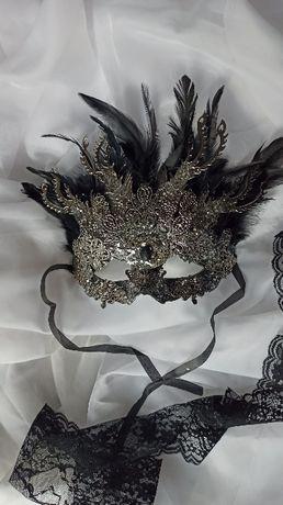 Ozdobna maska na twarz. Gotyk. Goth. Mask.