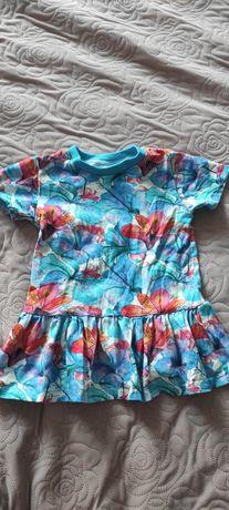 Bluzka Kwiaty baskinka handmade  86 92