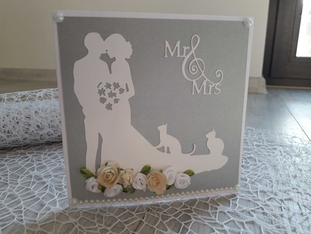 Kartki ręcznie robione ślub