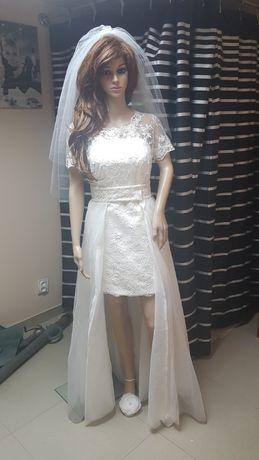 Suknia ślubna 36/38 cywilny ivory 3 w 1