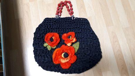 большая яркая сумка hand made