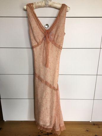Sukienka szyfon tiul r. 38