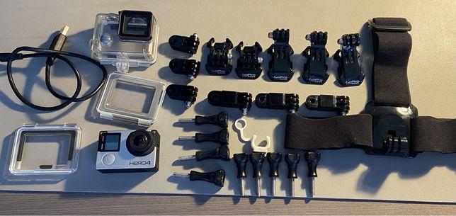 Kamera sportowa Go Pro Hero 4 Silver Edition + akcesoria