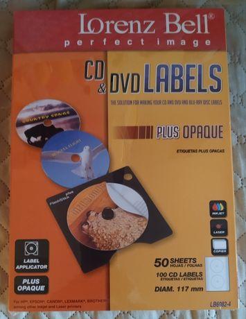 Etiquetas Lorenz Bell p/ CD 117mm 50 Folhas (100 Etiquetas)