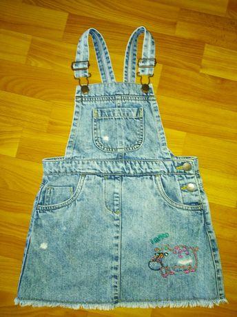 Фирменный джинсовый сарафан NEXT,3-5 лет, в идеале