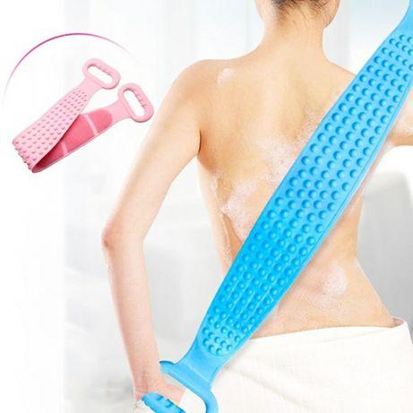 Массажная щетка-полотенце силиконовая,двухсторонняя для мытья тела