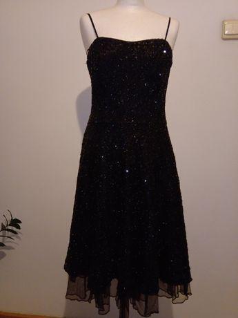 Sukienka wieczorowa cekinowa r.38