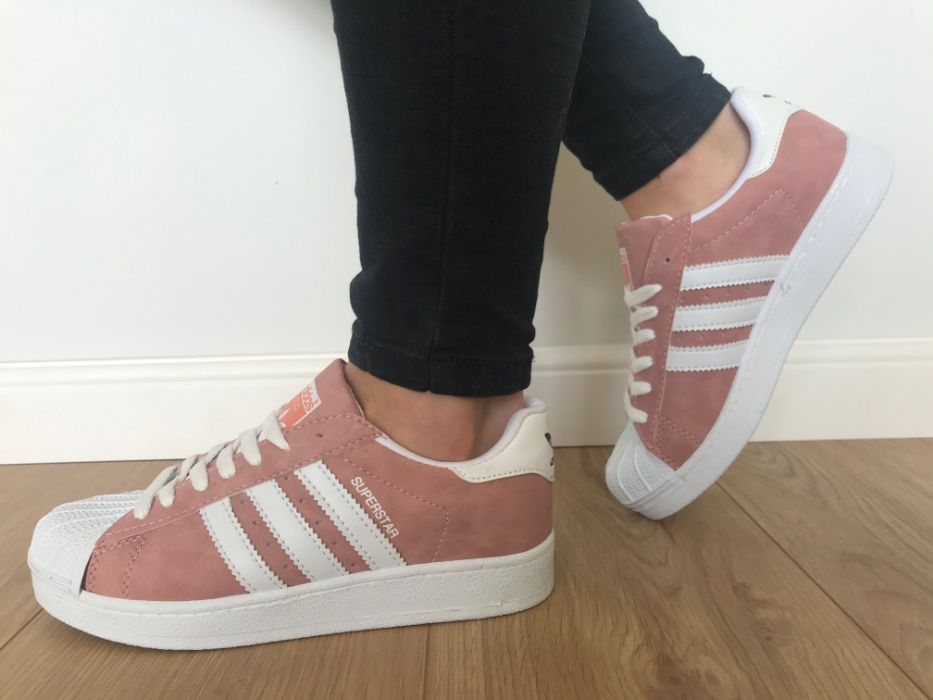 Adidas Superstar. Rozmiar 39. Różowe - Białe paski. Super cena! Dulowa - image 1