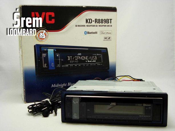 Radio samochodowe JVC KD-R889BT, komplet!