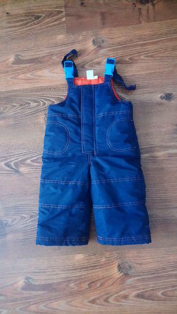 Spodnie dzieciece zimowe narciarskie rozmiar 80