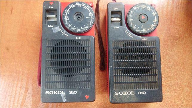 Radio zabytkowe Sokol 310 2 szt made in USSR