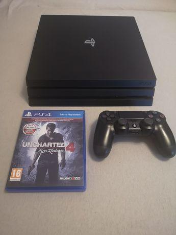 PlayStation 4 Pro PS4 dysk 1TB model CUH-7216B + gra Uncharted 4