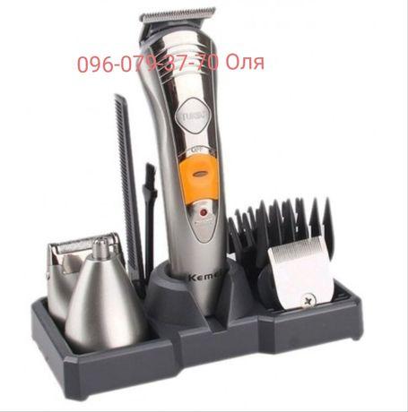 Триммер,машинка для стрижки волос и бороды, бритва Kemei KM 580-A 7в1