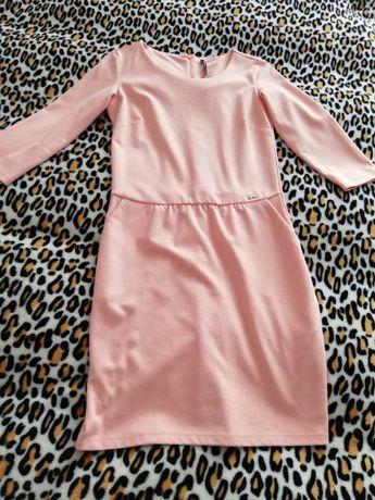 Sukienka CROPP Chillin rozmiar XS pudrowy róż