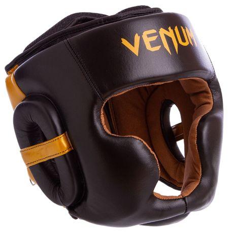 Шлем боксерский Venum натуральная кожа закрытый