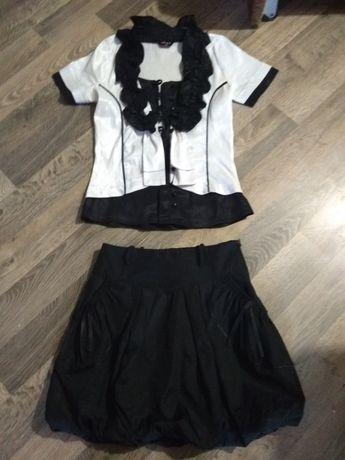 Школьные вещи на девочку,блузка юбка в школу
