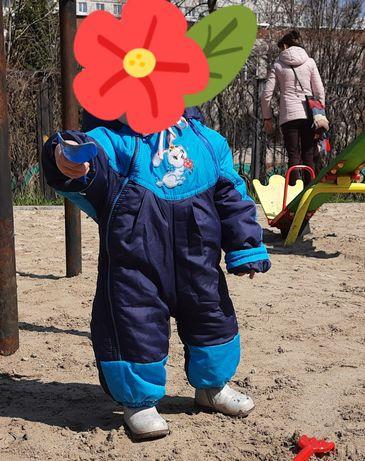 Детский комбинезон с подстежкой зима- демисезон