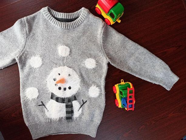 Сніговик светр светрик Next свитер 2-3