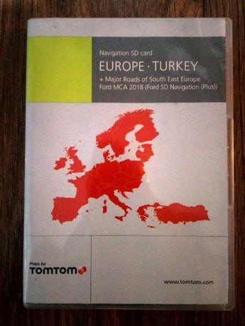 POLSKA Mapy nawigacja NX SD navi ford fokus Europa oryginał 2018r