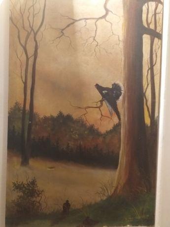 sprzedam obrazy malowane na płótnie
