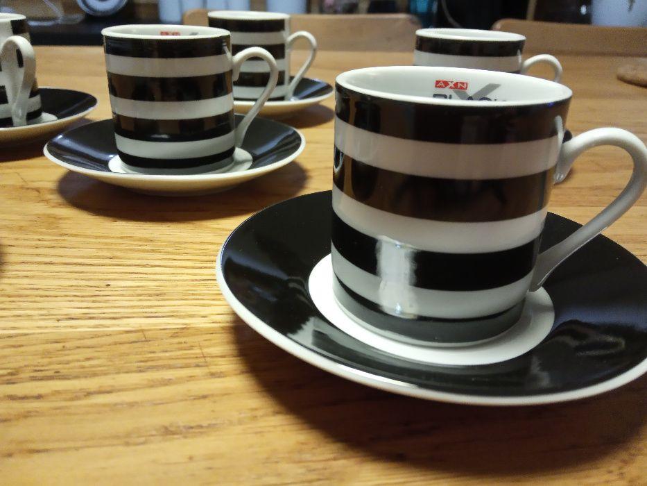 Kolekcjonerskie Filiżanki AXN Black/White 6 sztuk do espressoObniżka Strzeszkowice Duże - image 1