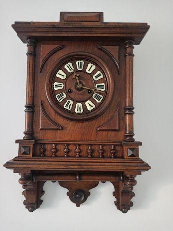 Antyk zabytkowy dębowy zegar sprawny