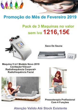 Pack 3 Maquinas Promoção do Mês de Fevereiro Cavitação,Pressoterapia