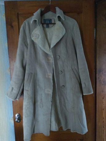 Дублянка натуральна пальто 48-50 розмір
