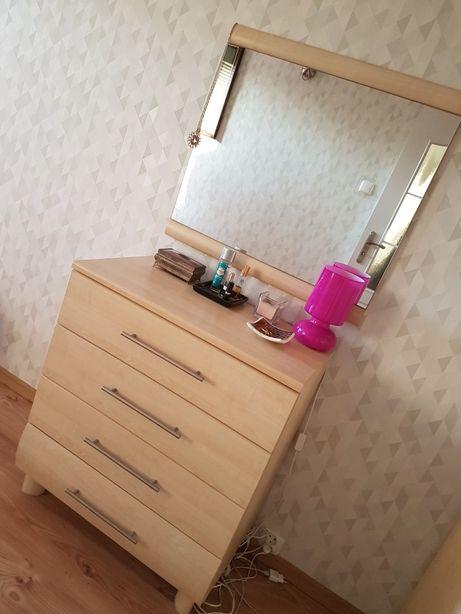 Meble BRW komoda z lustrem i nocna szafka