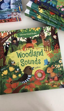 Usborne,Woodland Sounds ,игрушка-книга со звуками леса