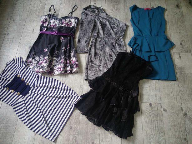 Платье женское размер XS, S. 5 красивых плать за 350 грн!