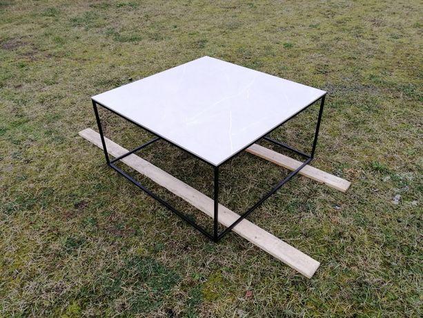 Stolik kawowy lawa 100cm 100x100 Loft Marmur