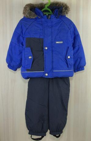 Зимний комплект куртка полукомбинезон шапка-шлем Lenne 80 см