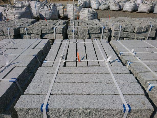 Palisada granitowa palisady granitowe cięto-łupane opornik kostka