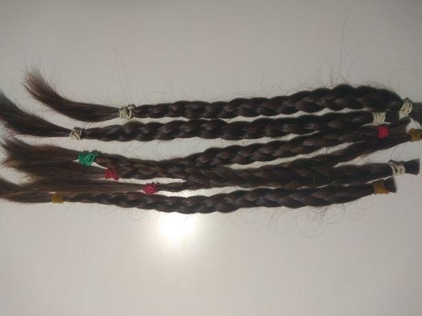 Włosy Słowiańskie, niefarbowane, zadbane 38-40cm 60g. Ciemny brąz