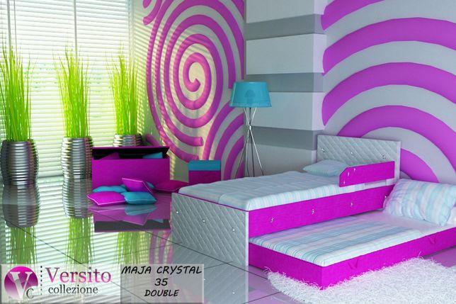 Łóżko dla dziecka,piętrowe z 2 materacami 10 cm,dziecięce,tapicerowane