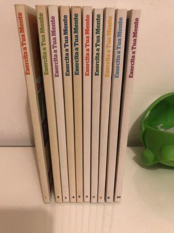 """Coleção de livros """"Exercita a tua mente"""""""