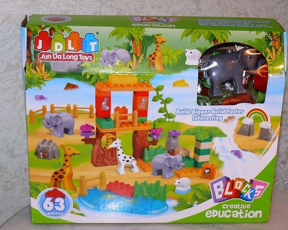 Детский конструктор JDLT 5021 зоопарк аналог Lego - подарок