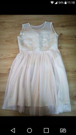 Sukienka kremowa 42
