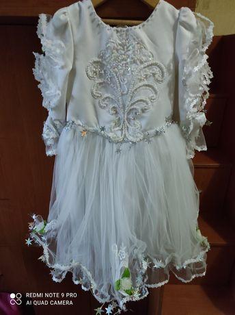 Платье новое белое прокат аренда сукня 92-98 104-116