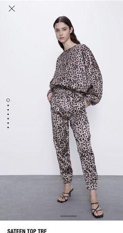 Костюм , комплект сатин Zara оригінал XS-S