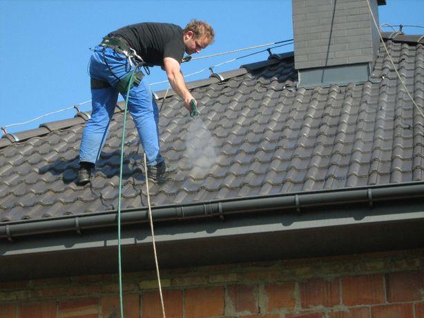 Malowanie dachów, malowanie dachu, mycie dachu, mycie dachówki