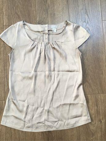 Bluzka elegancka biurowa H&M nude 34 XS