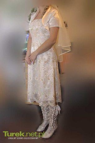Komplet ślubny Sukienka + bolerko