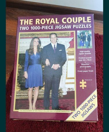 Puzzle 2 x 1000 elementów Royal Couple Kate Middleton Prince