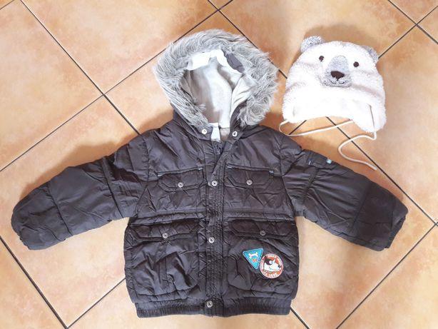 Kurtka zimowa 92 C&A + czapka C&A