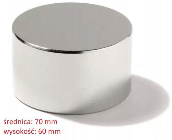 Magnes neodymowy 70x60, bardzo mocny N42, dożywotnia gwarancja mocy
