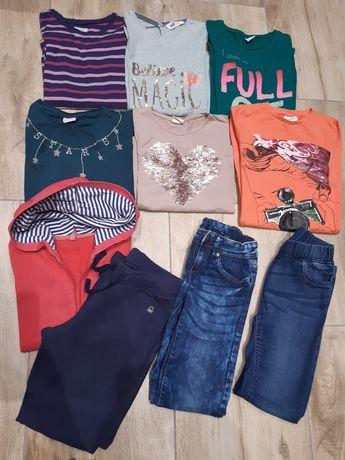 Bluzki,spodnie dziewczęce h&m,zara,cool club rozm.rozm.134/140