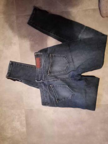 Jeansy spodnie rurki Reserved 38 M slim fit zwezane Zara house hm crop
