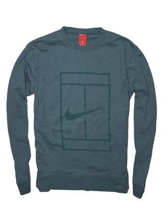 Nike TENIS M super bluza z kieszonką wielkie logo tenisowa swash